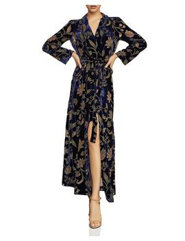 Velvet Floral Burnout Wrap Dress by Bcbgmaxazria