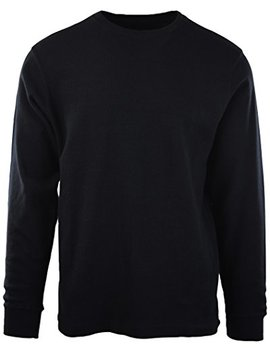 Choice Apparel Mens Long Sleeve Thermal Waffle Pattern Crew Neck Shirts by Choice Apparel
