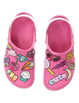 Fun Lab Playful Patches Clog (Toddler/Little Kid) by Crocs Kids