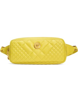 Icon Quilted Leather Belt Bag by Versace