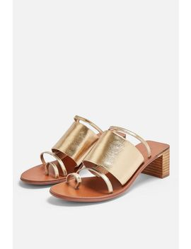 Violet Gold Mule Sandals by Topshop
