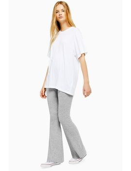 Ribbed Marl Flare Trousers by Topshop