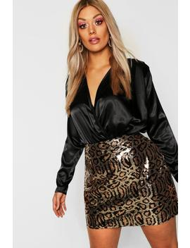 Gemma Collins Leopard Print Skirt by Boohoo