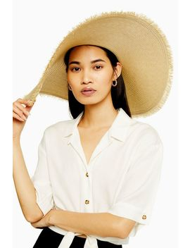 Frayed Oversized Straw Hat by Topshop