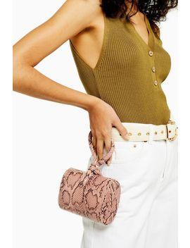 Grande Pink Snake Grab Bag by Topshop