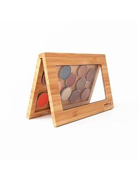 Exclusive Bamboo Magnetic Makeup Palette Empty Eye Shadow Palette Freestyle Cosmetic Organizer (Bamboo Palette Plus 12 Shades Eye Shadows) by Unknown