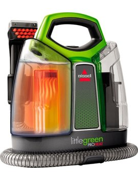 Little Green Pro Heat Handheld Deep Cleaner   Titanium With Chacha Lime Accents by Bissell