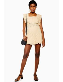 Buttermilk Broderie Frill Playsuit by Topshop
