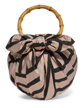 Dumpling Knotted Striped Silk Blend Tote by Emily Levine