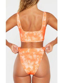 Orange Acid Print High Leg Elastic Waist Bikini Bottom by Prettylittlething