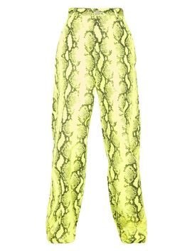 Yellow Neon Snake Denim Joggers  by Prettylittlething