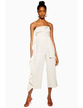 Ivory Frill Bandeau Jumpsuit by Topshop