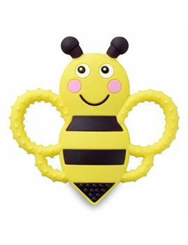 Buzzy Bee Multi Textured, Soft & Soothing, Easy Hold, Silicone Teether (Bpa Free, Freezer & Dishwasher Safe) by Sweetbee