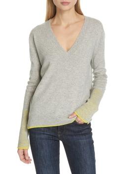 Wool & Cashmere V Neck Sweater by La Ligne