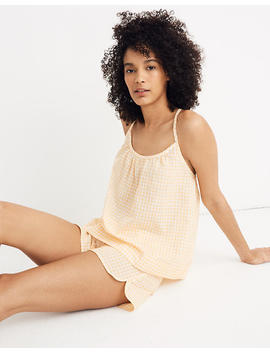 gathered-pajama-cami-top-in-saffron-gingham by madewell