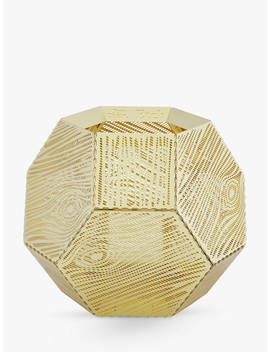 Tom Dixon Etch Tealight Holder, Gold by Tom Dixon