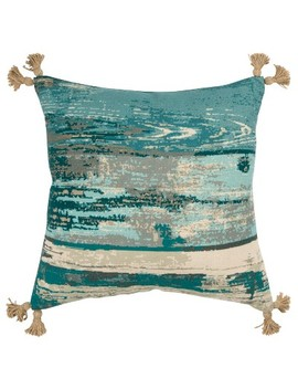 Abstract Decorative Filled Oversize Square Throw Pillow Blue   Rizzy Home by Rizzy Home