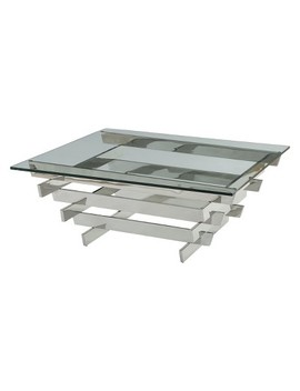 Acme Furniture Salonius Coffee Table Clear Glass Sliver by Shop This Collection