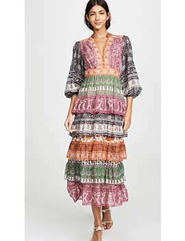 Amari Tiered Midi Dress by Zimmermann