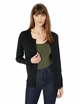 Amazon Essentials Women's Lightweight Crewneck Cardigan Sweater by Amazon Essentials