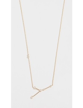 14k Gold Cancer Necklace With White Diamonds by Lulu Frost