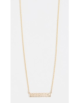 14k Bad Bitch Word Necklace by Established