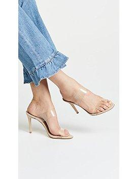 Schutz Women's Ariella Strappy Sandals, Transparent, Tan, Clear, 7 M Us by Schutz