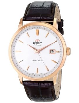"Orient Men's Fer27003 W0 ""Symphony"" Rose Gold Ion Plated Solid Stainless Steel Watch With Brown Leather Band by Orient"