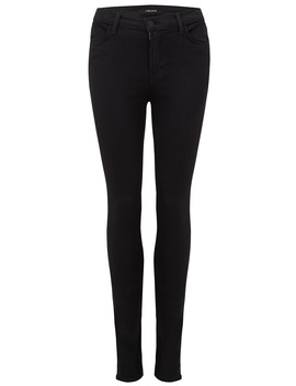 Maria High Rise Skinny Jeans   Seriously Black by J Brand