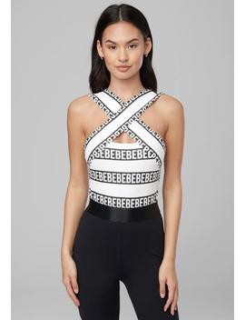 Serena Logo Stripe Bodysuit by Bebe