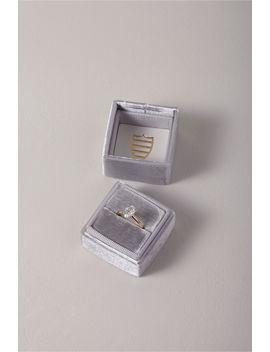 Mrs. Box Velvet Ring Box by Bhldn