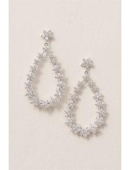 Crystal Bouquet Chandelier Earrings by Bhldn