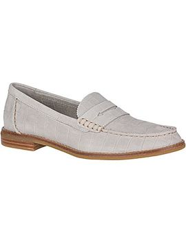 Seaport Croc Nubuck Penny Loafer by Sperry