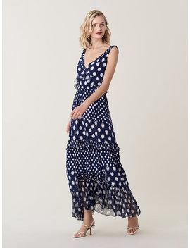 Misha Ruffled Silk Maxi Dress by Dvf