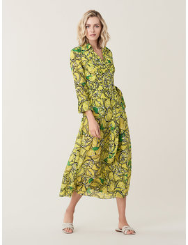 Collared Cotton Voile Midi Beach Wrap Dress by Dvf
