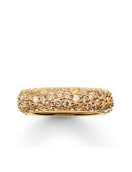 "Band Ring ""Crushed Pavé"" by Thomas Sabo"