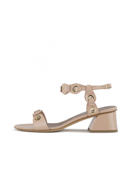 Patent Leather Sandal With Heel by Attilio Giusti Leombruni