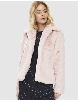 Blushing Faux Fur Vest by Cooper St