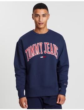 Clean Collegiate Crew Sweatshirt by Tommy Jeans
