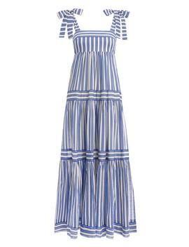 Verity Stripe Tiered Tie Dress by Zimmermann