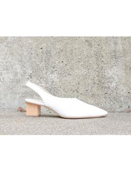 Marigold Asymmetrical Mid Heel by Freda Salvador