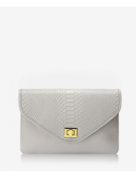 Georgia Clutch by Oyster Embossed Python