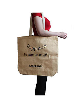 Lakeland Jute Bag For Life Fun Slogan Tote Natural by Lakeland