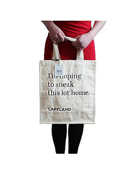 Lakeland Cotton Bag For Life   Fun Slogan Tote Natural by Lakeland