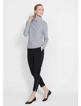 Heather Grey Park Slope Turtleneck In Terry Fleece by Dudley Stephens