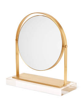 Brass &Amp; Acrylic Vanity Mirror by Kendra Scott