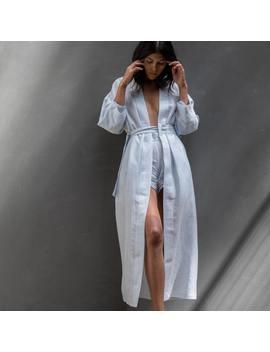 Resort Linen Silk Robe by Lunya