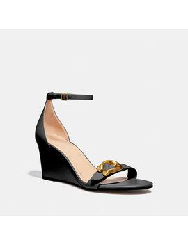 Odetta Wedge Sandal by Coach