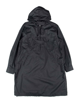 Bush Shirt   Black Nylon Micro Ripstop by Engineered Garments