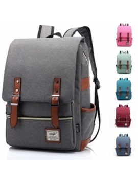 Men And Women Vintage Casual Canvas Backpack Travel Bag School Backpacks by Wish